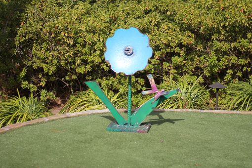 Custom Made Metal Sculpture Garden Decor Metalwork Flower Yard Art