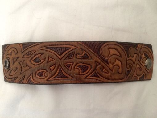 Custom Made Maori Tribal Leather Wrist Cuff