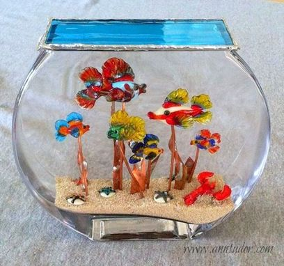 Custom Made Family Lampwork Glass Aquarium