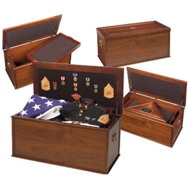Custom Made Heirloom Personal Effects Chest - Flag And Medal Chest