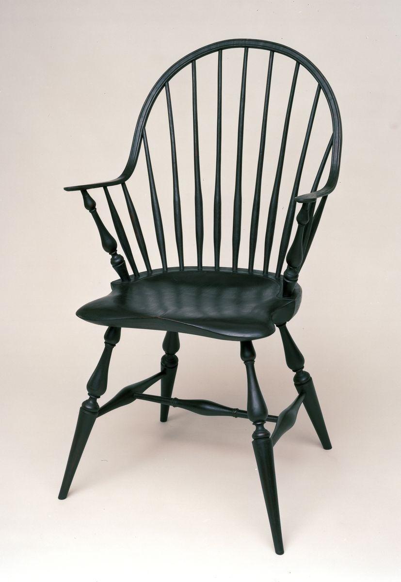 Custom Continuous Arm Windsor Chair By Evan Berding Custom