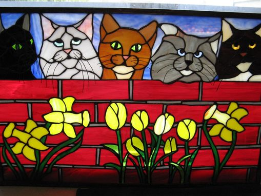 Custom Made Custom Pet-Themed Stained Glass Panel