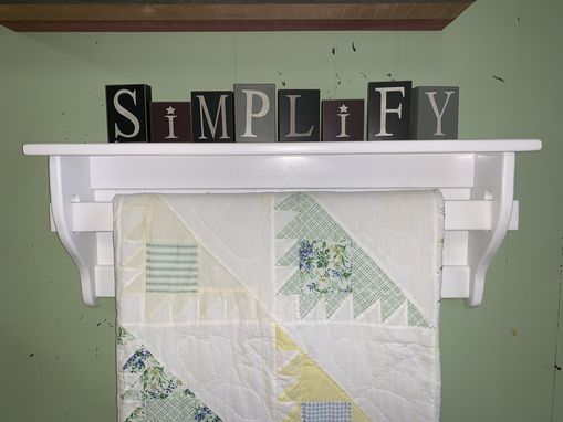 Custom Made Quilt Rack And Hanger