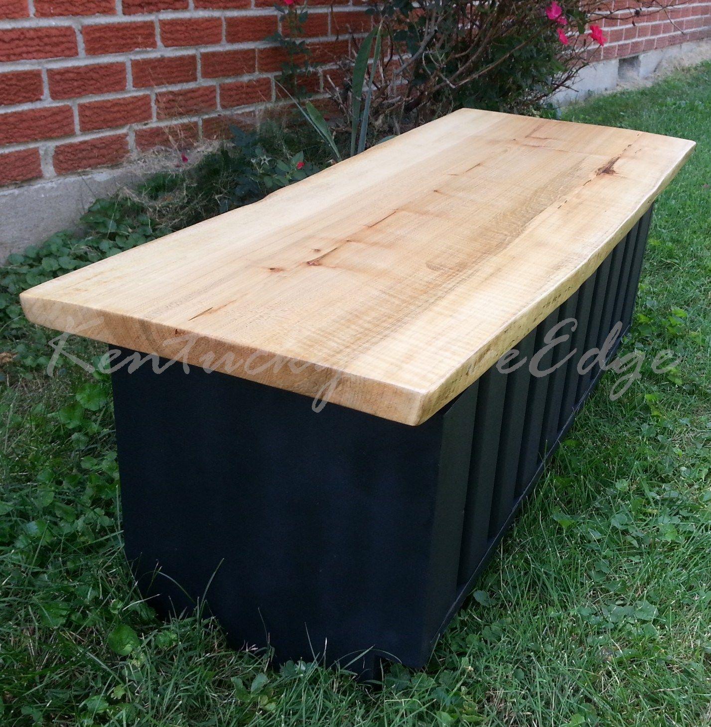 Buy A Custom Live Edge Coffee Table With Storage- Storage