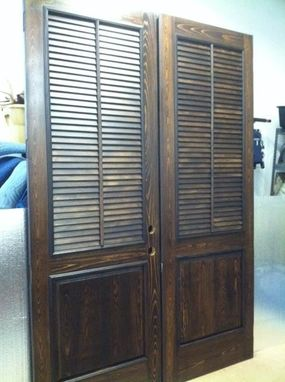 Custom Made Cypress Exterior Shutter Door (8 Foot)
