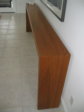 Custom Made Solid Teak Parsons Table