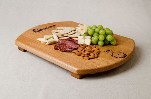Custom Made Barrel Head Cheeseboard With Cooperage Stamp