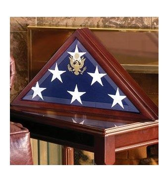 Custom Made Memorial Flag Case - Burial Flag Display Box