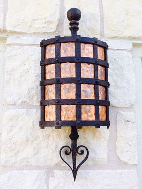 Custom Made Metal And Copper Wall Sconce