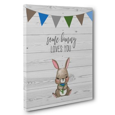 Custom Made Some Bunny Loves You Nursery Canvas Wall Art