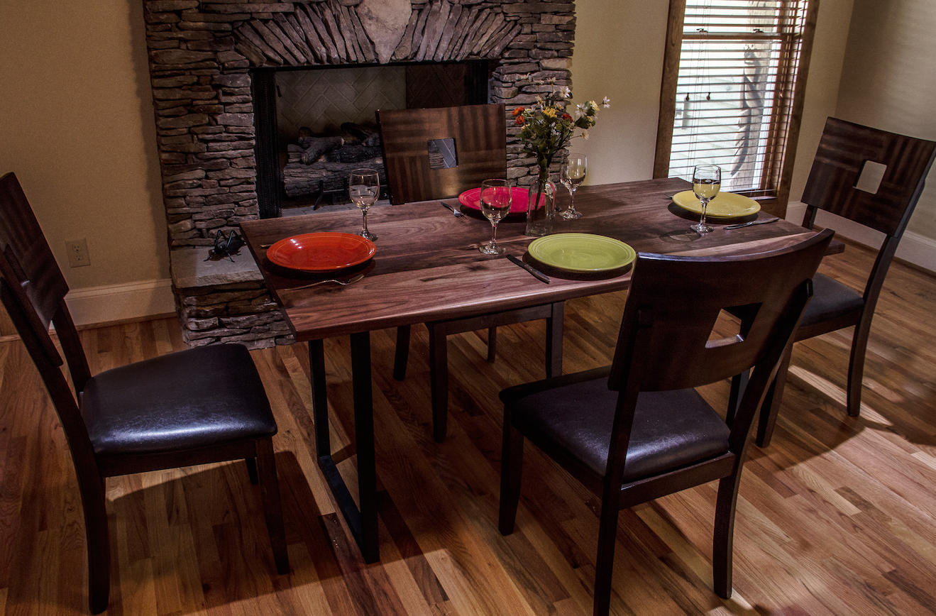 Custom Made Walnut Dining Table Tabletop Modern