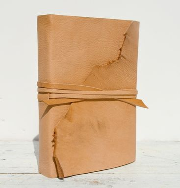 Custom Made Leather Bound Handmade Goatskin Journal Travel Luxury Diary Contemporary Art Notebook
