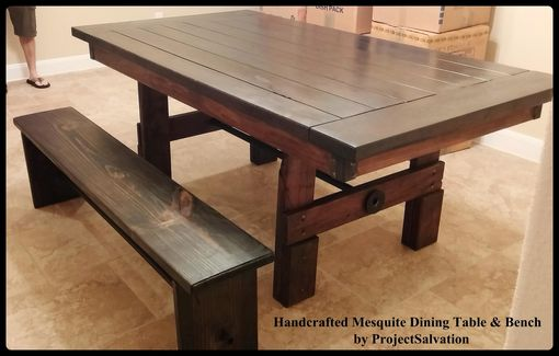 Custom Made Farm House Table / Handcrafted Mesquite Dining Table