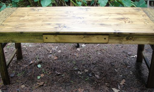 Custom Made R2 Custom Made Farm Door Desk Or Table With Optional Drawer And Printer Shelf