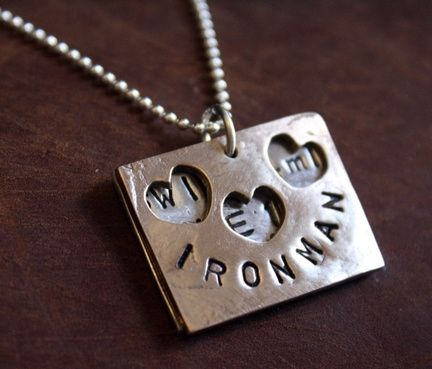 Custom Made Sterling Silver & Bronze - Ironman Necklace - $130