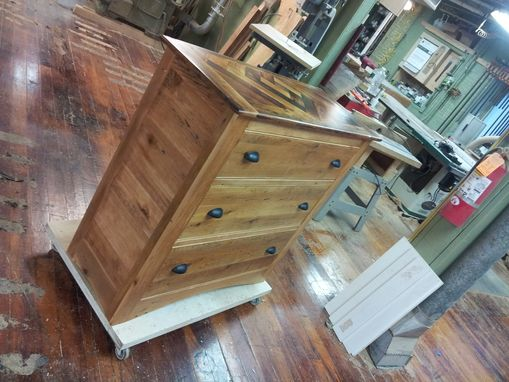 Custom Made Reclaimed Pine Chest Of Drawers