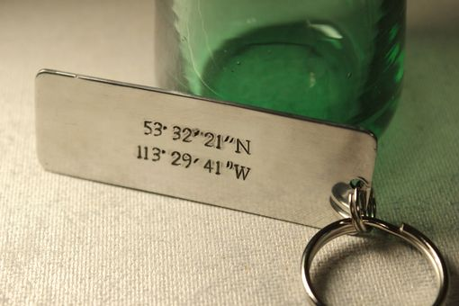 Custom Made Custom Stamped Keychain With Your Choice Of Text