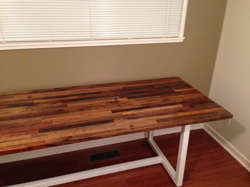 Custom Made Salvaged Mahogany Dining Table
