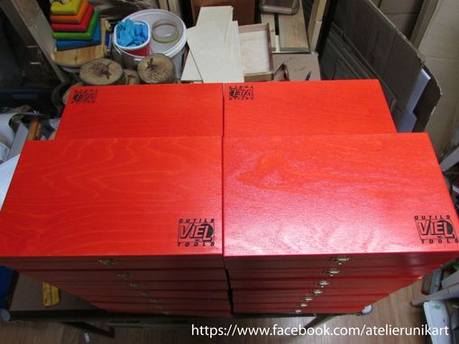 Custom Made Custom Wooden Boxes For Viel Tongue & Groove Shaper Set
