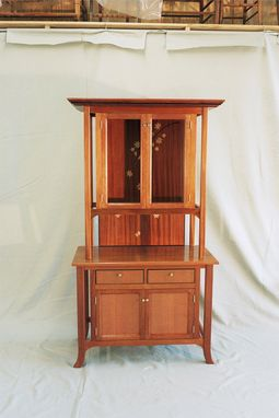 Custom Made Lacewood Display Cabinet
