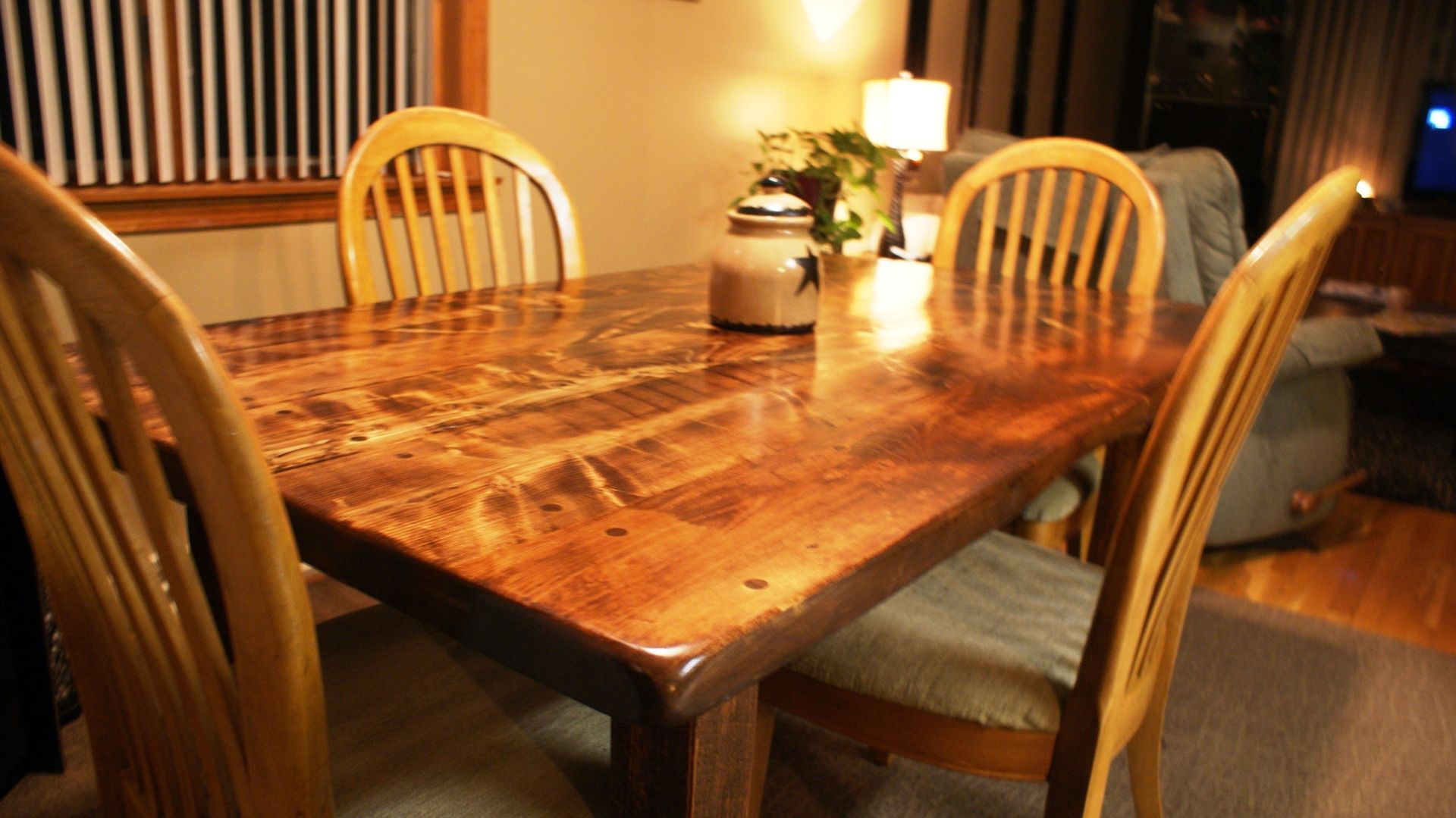 Custom Made New England Harvest Table