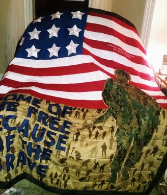 Custom Made Quilt To Honor Military