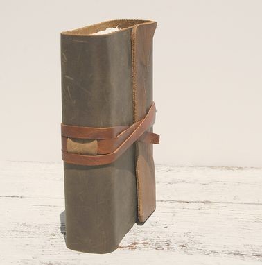 Custom Made Leather Bound Journal Notebook Handmade Paper Art Travel Diary