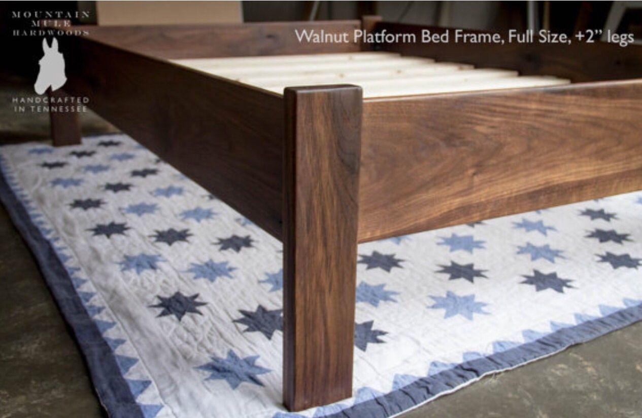 custom made simple queen size platform bed frame hardwoods ash oak maple