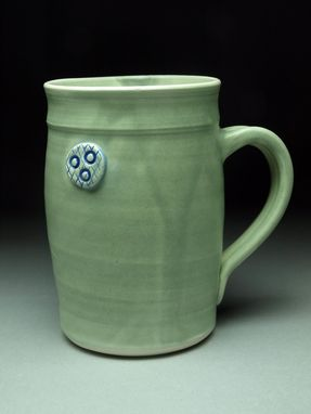 Custom Made Green Button Mug