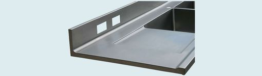 Custom Made Stainless Countertop With 2 Drainboards
