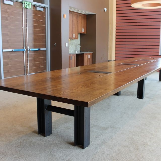 Hand Made Reclaimed Oak Custom Conference Table By Cornerstone - Traditional conference table