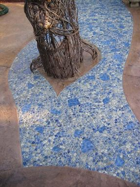 Custom Made River Stone Patio