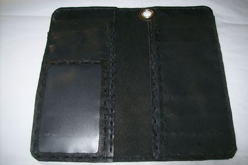 Custom Made Custom Leather Biker Wallet / Trucker Wallet