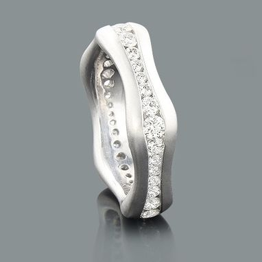 Custom Made Stackable Diamond Eternity Ring Luccello