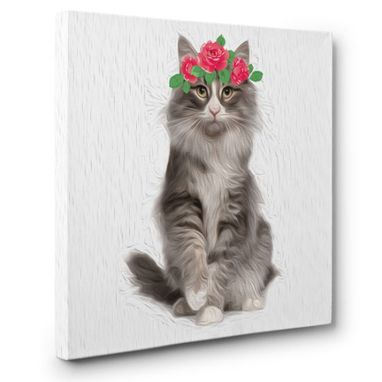 Custom Made Cat Canvas Wall Art
