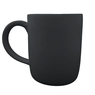 Custom Made Large Matte Porcelain Usa Made Mug- Black