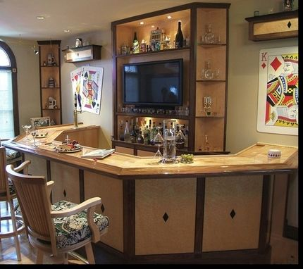 Custom Made Bar And Plasma Cabinets