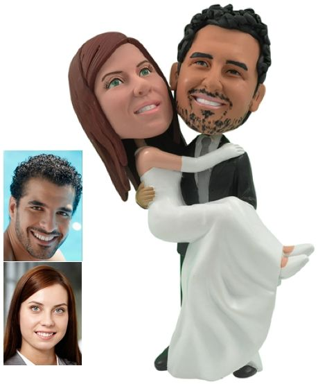 bride and groom wedding cake toppers customized uk made personalized wedding cake topper of a groom 12128