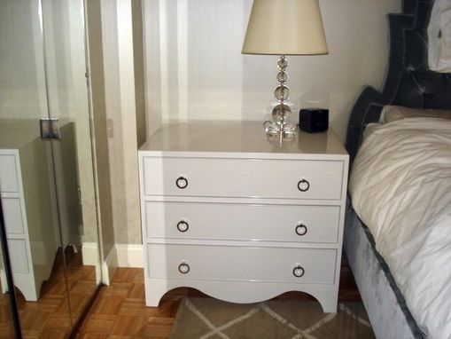 Custom Made Nightstand In White Finish