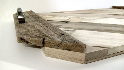 Custom Made Serving Tray Of Vintage Pallet Wood Planks With Your Custom Details