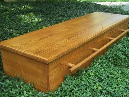 Custom Made Green Casket