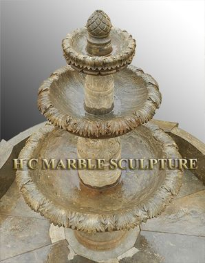 Custom Made Antique 3 Tier Stone Fountain