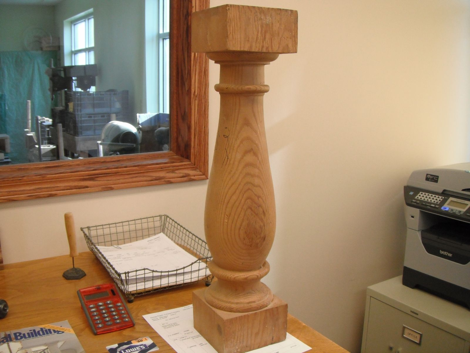Handmade Solid Wood Baluster By George Pagels Column