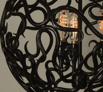 Custom Made Scroll Ball Chandelier