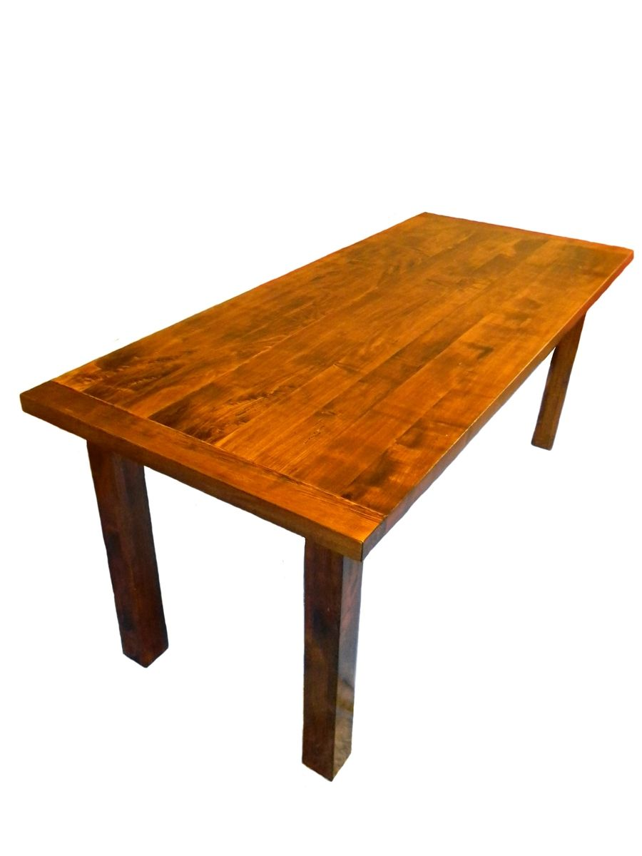 custom made solid rustic modern maple dining table by