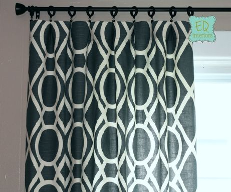 Custom Made Custom Curtain Panels Robert Allen Lattice Bamboo Trellis Drapes In Amber Tan Beige 90l X 50w