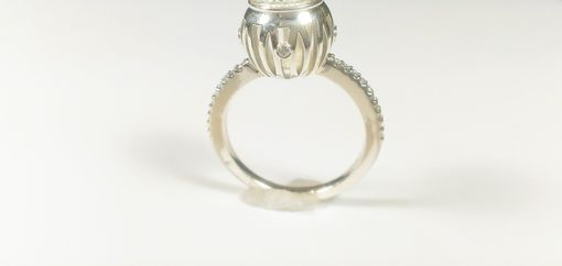 Custom Made Open Gallery Bezel Engagement Ring