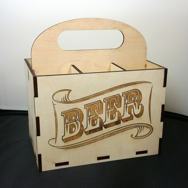 Custom Made Wooden Laser Cut Beer Case