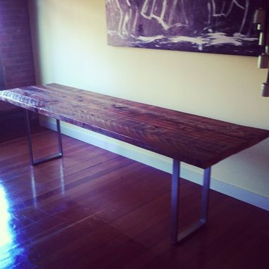 Custom Made Reclaimed Wood Plank Dining Table