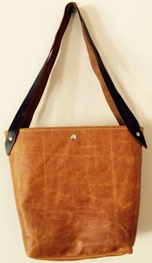 Custom Made Leather Dandelion Tote